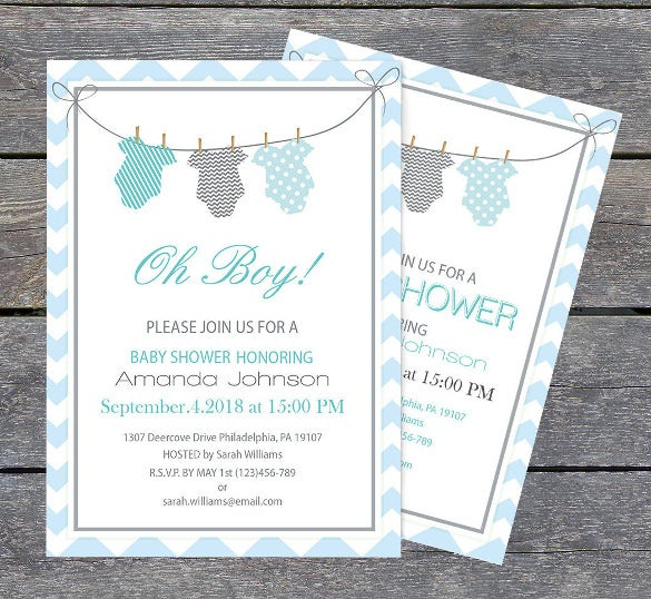 Onesie Baby Shower Invitation Template  Baby Shower Invite Template Free