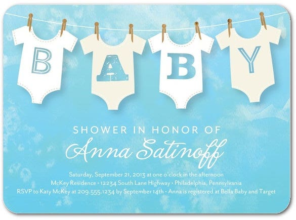 Baby Shower Invite Template | 11 Onesie Invitation Templates Free Sample Example Format