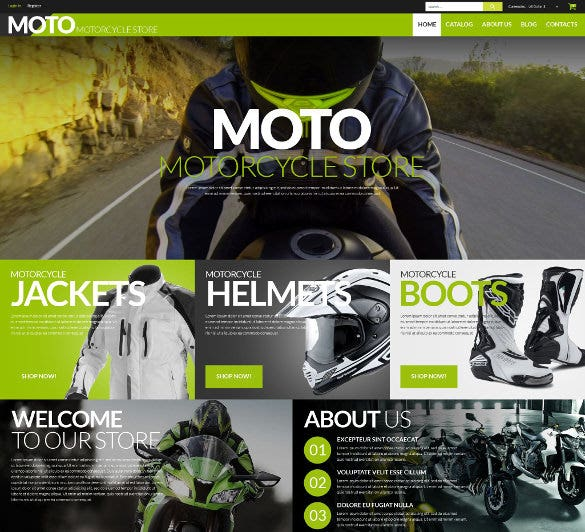 motorcycle store mobile virtuemart template