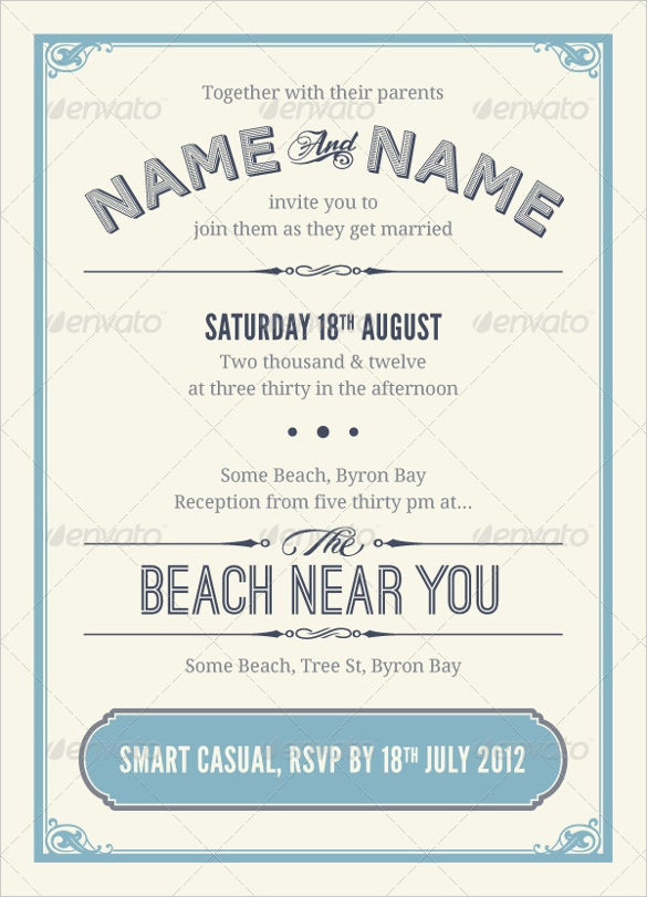 26  Vintage Wedding Invitation Templates – Free Sample, Example ...