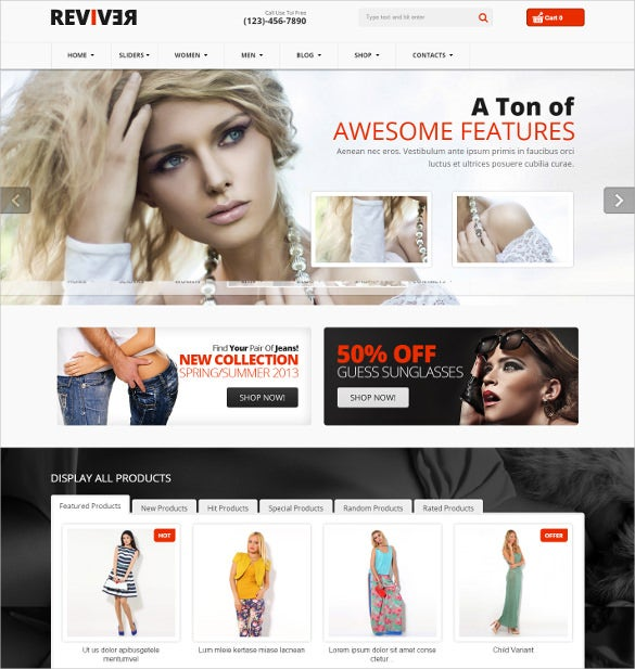 responsive mobile multipurpose fashion virtuemart theme