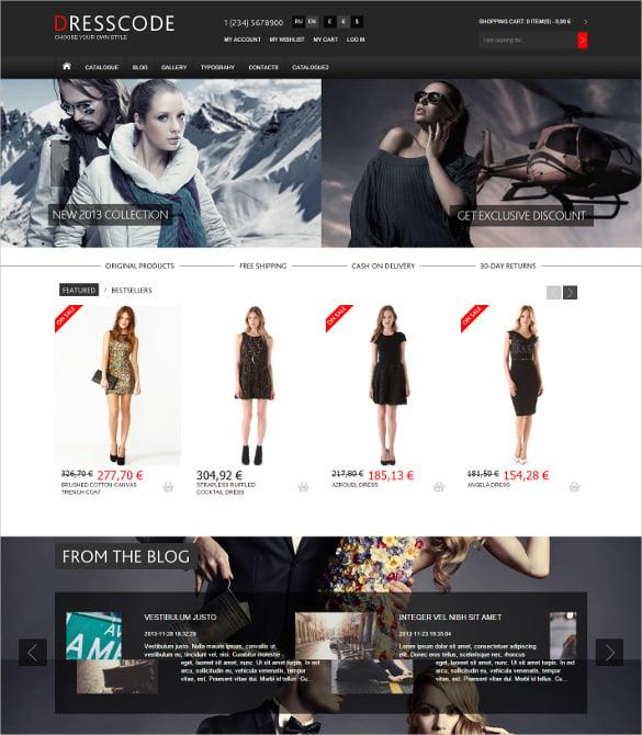 responsive fashion store mobile joomla virtuemart template
