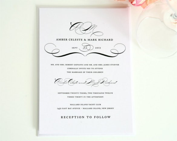 26 Vintage Wedding Invitation Templates Free Sample Example – Wedding Invitation Sample Format