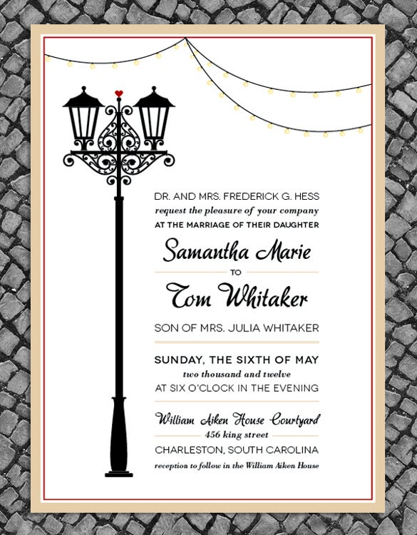 vintage wedding invitation templates  free sample, example, Wedding invitation