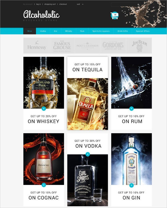 alcoholic beverage store zencart mobile theme