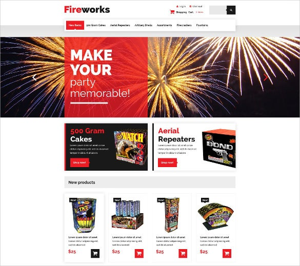 fireworks shop zencart mobile template