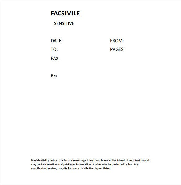 Confidential Fax Cover Sheet   Free Word Pdf Documents