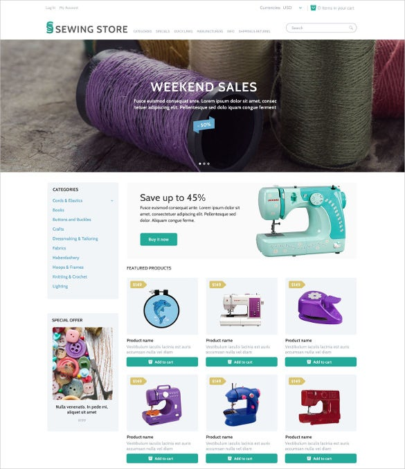 sewing marketplace zencart mobile theme