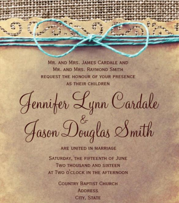 vintage wedding invites templates