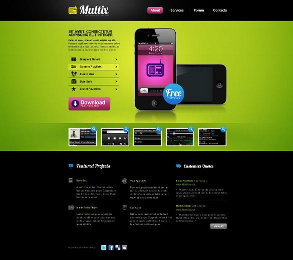 simple mobile store psd theme