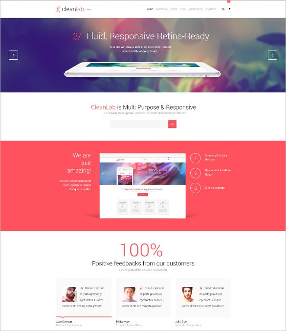 clean lab multi purpose psd template