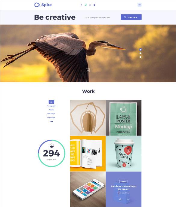creative agency psd mobile theme