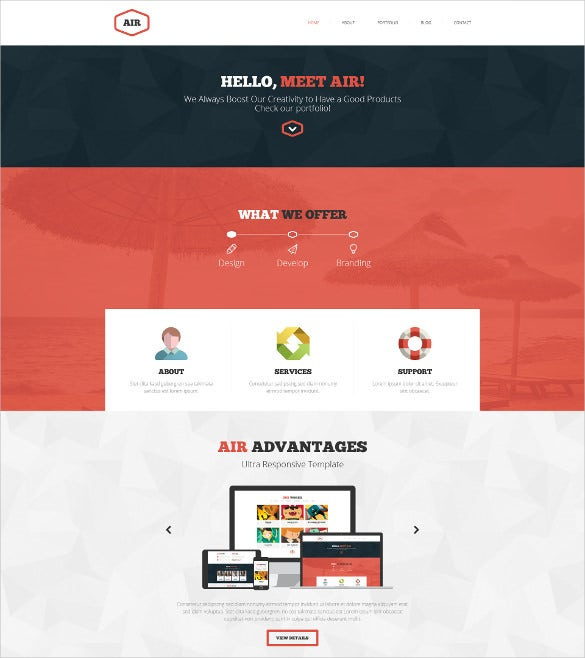 onepage multipage psd mobile template