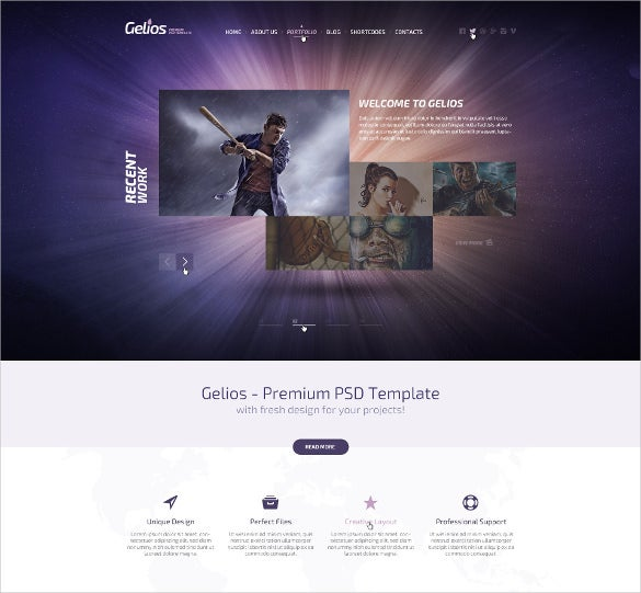 cosmic mobile psd template