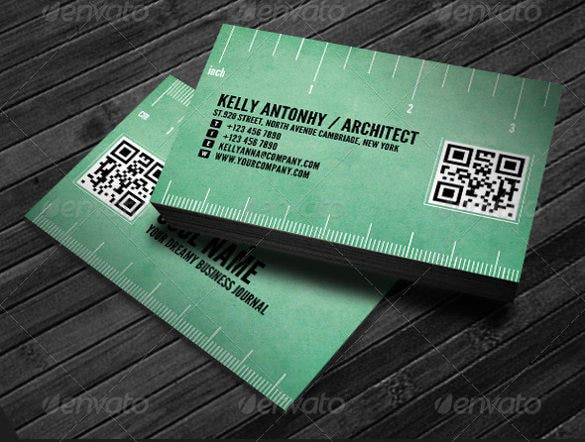 black corporate business card template