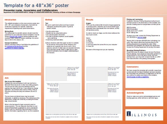 8 powerpoint poster templates ppt free premium for Eposter template