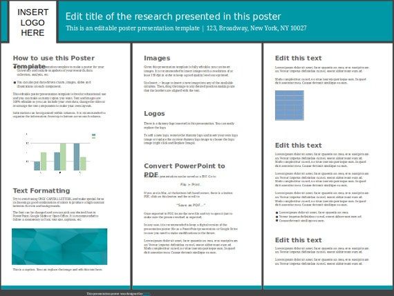 48×36 research poster presentation template