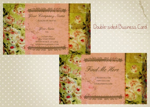 23 business invitation templates free sample example format double sided business card shabby chic business card stopboris Images