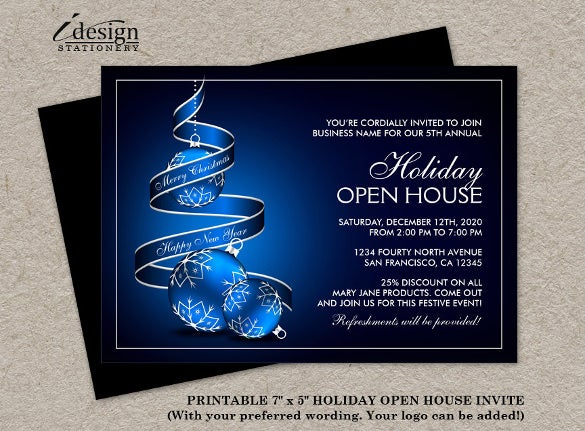 23 business invitation templates free sample example format elegant business holiday open house invitations accmission