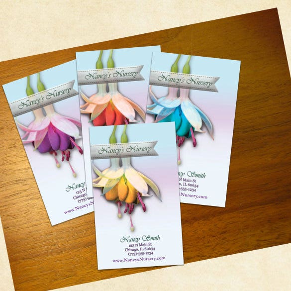 brown lily business cards