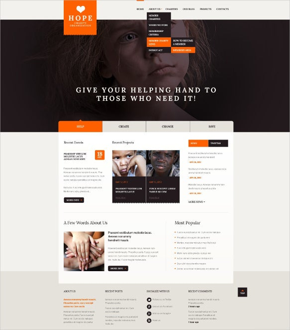 children charity drupal template