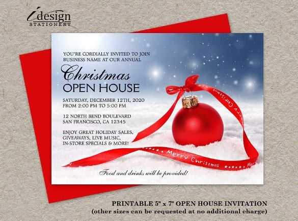 23 business invitation templates free sample example format festive business holiday open house invitation accmission Images