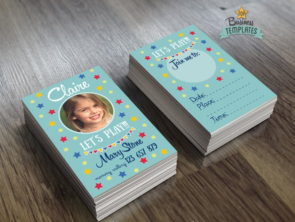 mommy calling business cards for kids children