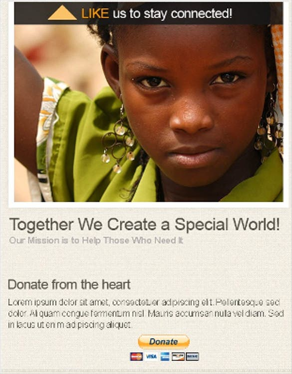 facebook charity php template