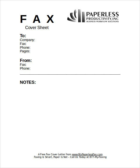 Free Business Fax Cover Sheet Template Word Doc Download