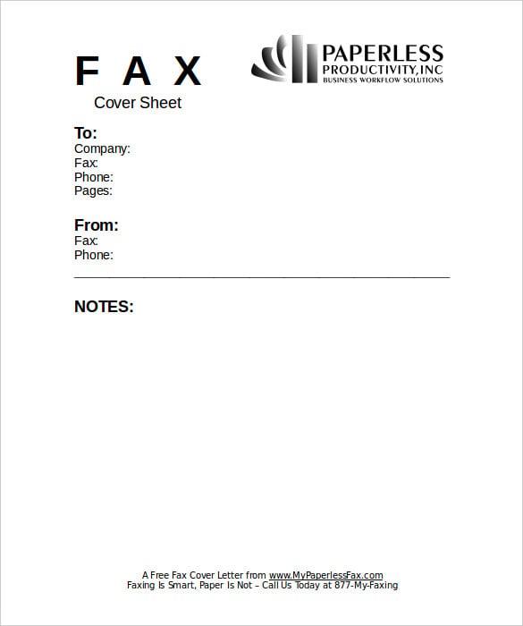 fax cover sheet template pdf   datariouruguay