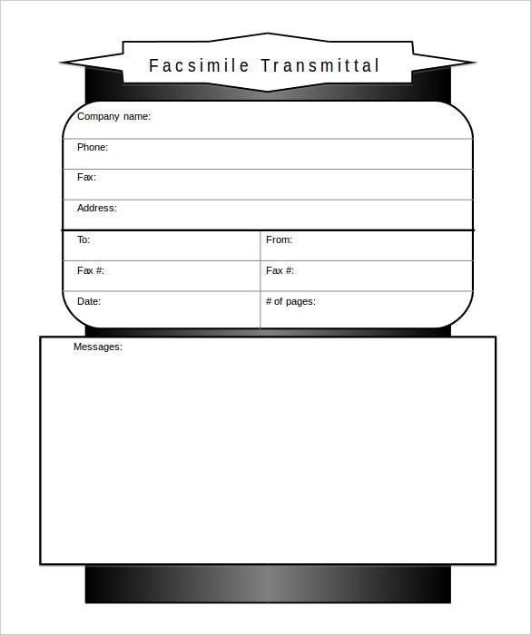 Business Fax Cover Sheet Templates  Free Sample Example