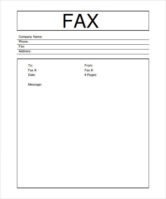 free compnay business word fax template download
