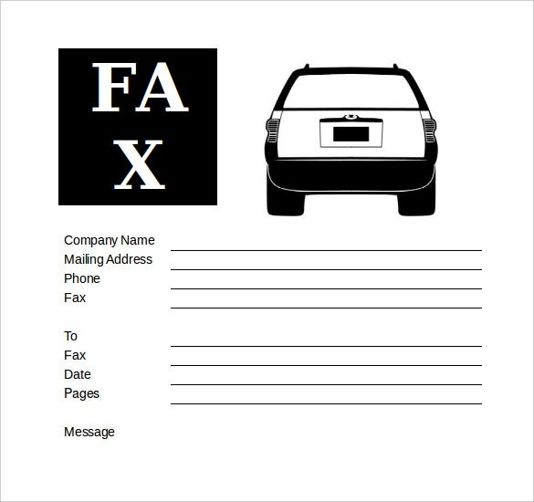 editable auto repair business fax cover sheet