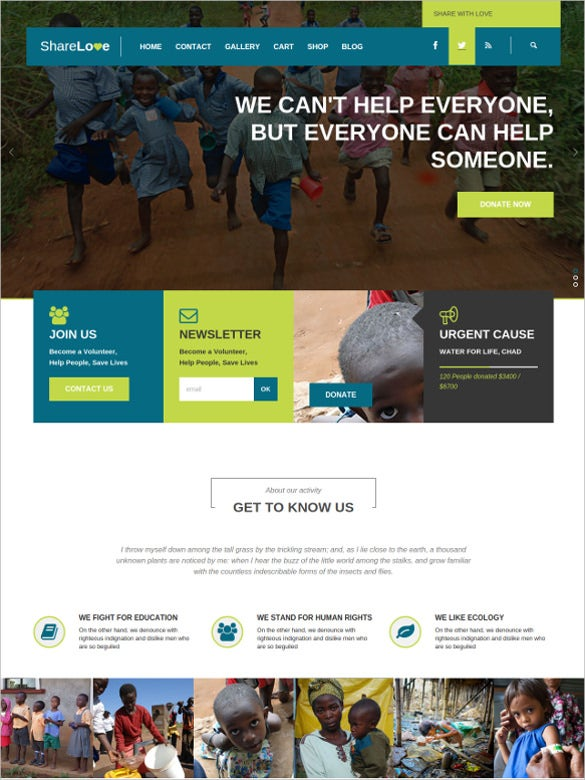 non profit charity php wordpress theme