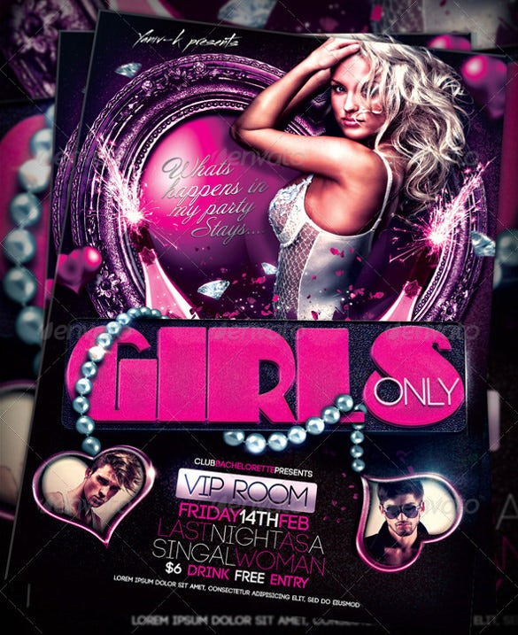 my bachelorette girls night party invitation