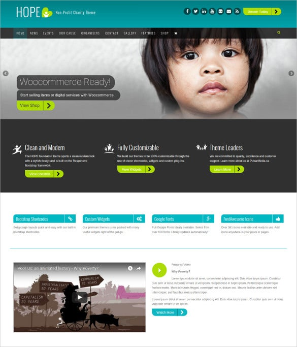 elagent charity php wordpress theme
