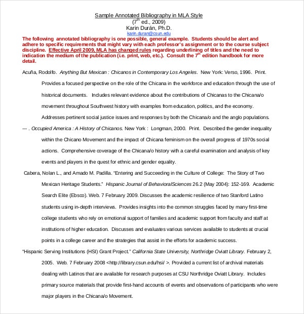 MLA Annotated Bibliography Template – 10+ Free Word, PDF Documents ...