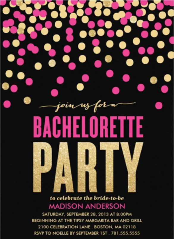 Bachelorette Invitation Templates  Free Sample Example