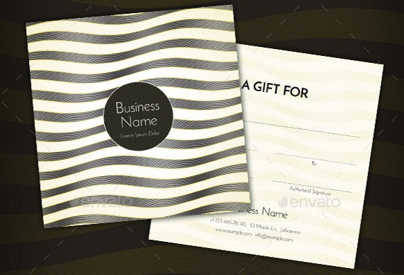 psd format restaurant gift certificate template download1