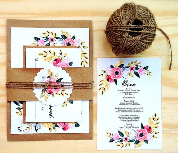 invite your family and friends to your wedding celebrations in a stylish manner that inspires beauty and class with this wedding invitation theme that is - Rustic Wedding Invitation Templates