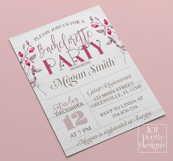 rustic bachelorette party invitation bachelorette invitation