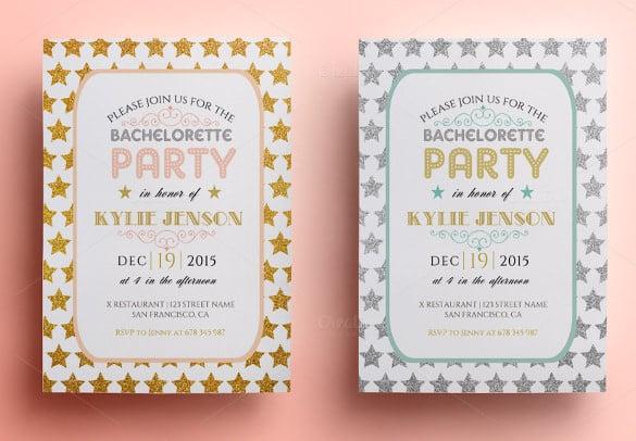 bachelorette invitation templates  free sample, example, Party invitations