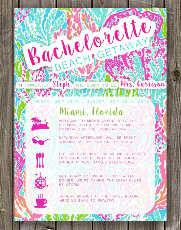 bachelorette beach weekend invitations bachelorette weekend invitation