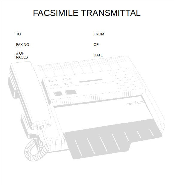 transmittal professional fax template printable