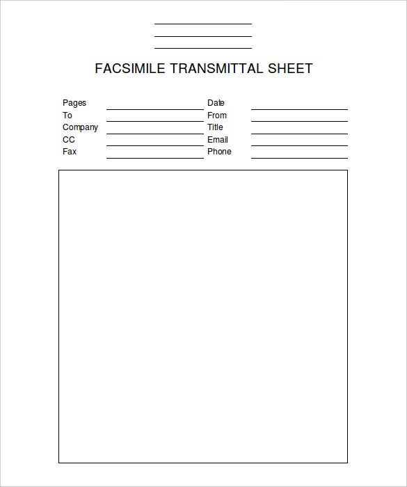 Blank Professional Fax Template MS Word Download  Document Transmittal Template Free