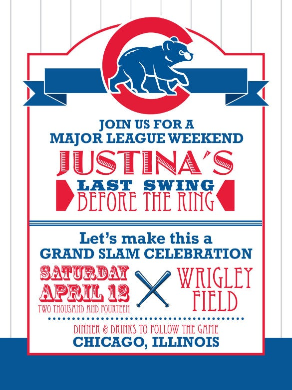 baseball bachelorette party digital invitation