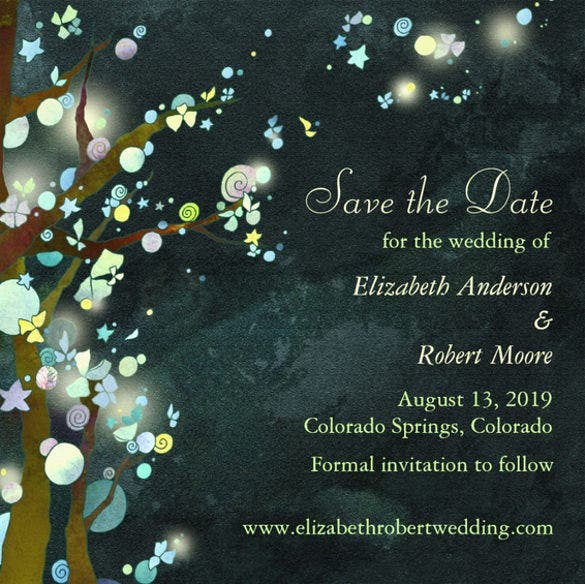 dark green tree wedding