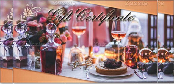 example of restaurant gift certificate template download