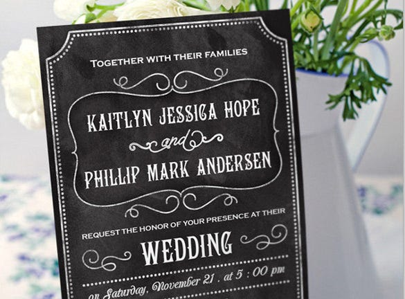 Rustic Wedding Invitation   Psd Eps Indesign Formats