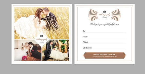 sample photography gift certificate template download